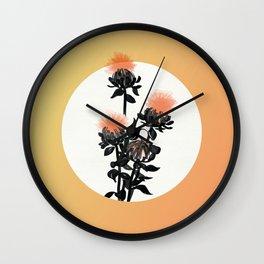 Safflowers Bloom Wall Clock