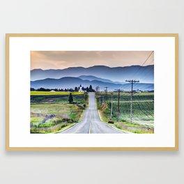 Road to Church Framed Art Print