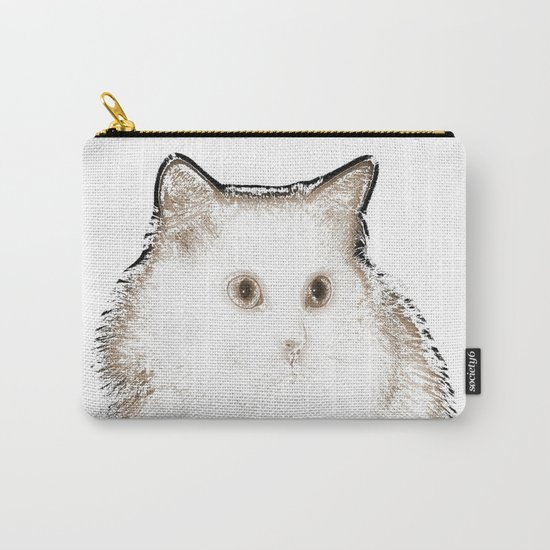 Silent Enquiry-white&sepia Carry-All Pouch