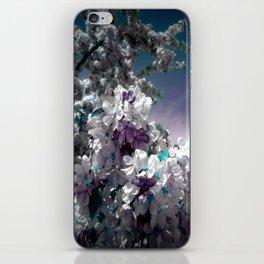 Flowers Purple & Teal iPhone Skin