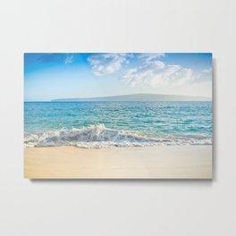 Oneloa Big Beach Makena Maui Hawaii Metal Print