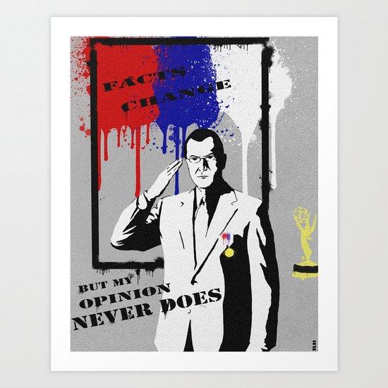 Graffiti Colbert Art Print