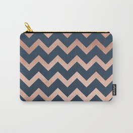 Blue & Pink Chevron Carry-All Pouch