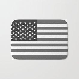 American flag in Gray scale Bath Mat