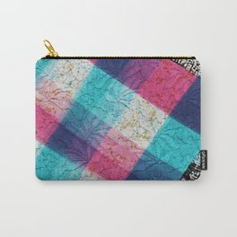 Artsy geometrical teal pink black watercolor lace Carry-All Pouch
