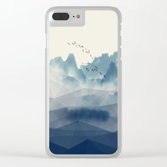Mountain dreams Clear iPhone Case