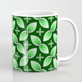 Silver Foil Green Tea Mint Stained Glass Herbal Design Coffee Mug