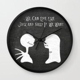 Chalkboard We Can Live Like Jack & Sally.. Wall Clock