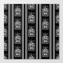 Black and White Tarot Print - The Emperor Canvas Print