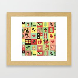 Christmas Geometric Pattern No. 2. Framed Art Print