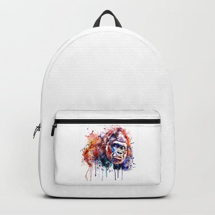 Gorilla Watercolor portrait Backpack