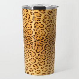Brown Beige Leopard Animal Print Travel Mug