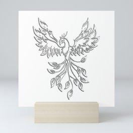 White Phoenix Mini Art Print