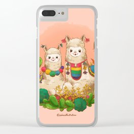Alpaca Siblings Clear iPhone Case