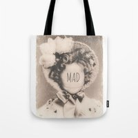 mad Tote Bags featuring MAD by Oddworld Art
