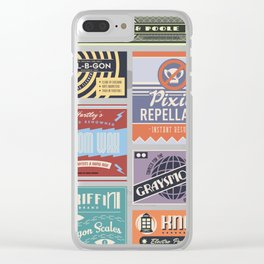 Wizarding Labels Clear iPhone Case