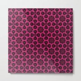 Pink Yarrow Floral Metal Print