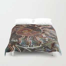 Fossilized Shell Duvet Cover