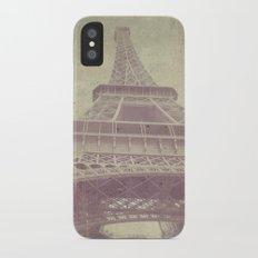 Paris love iPhone X Slim Case