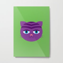 Bored Cat Metal Print