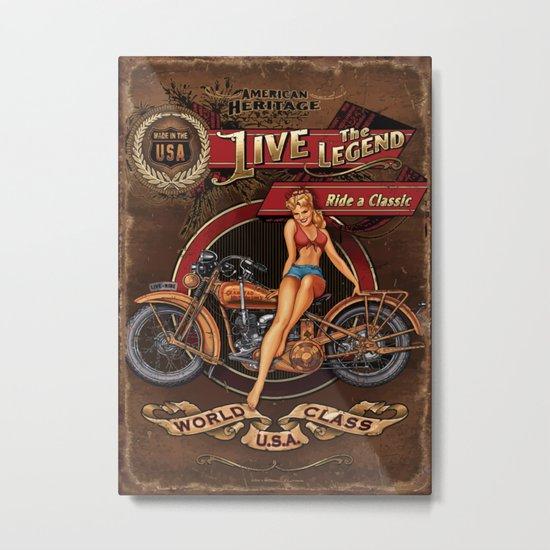 Live the Legend Metal Print