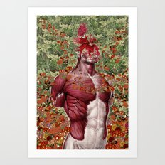 wellness anatomical collage art by bedelgeuse Art Print