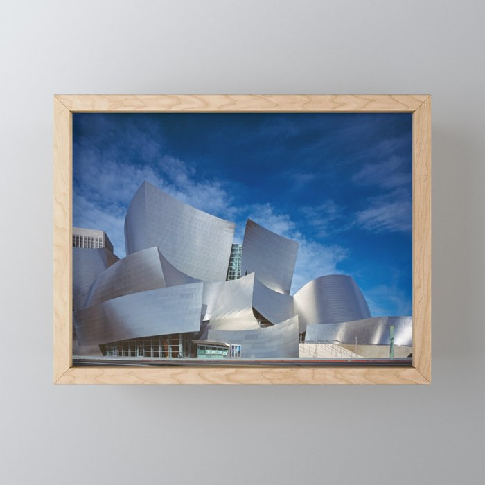 Los Angeles Concert Hall (Frank Gehry Architecture) Framed Mini Art Print