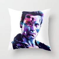 arnold Throw Pillows featuring Arnold Schwarzenegger: BAD ACTORS by Largetosti