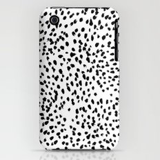 Nadia - Black and White, Animal Print, Dalmatian Spot, Spots, Dots, BW Slim Case iPhone (3g, 3gs)