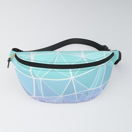 Cyan, Turquoise, and Purple Triangles Fanny Pack