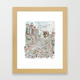 Escape from Japan Framed Art Print