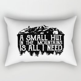 A Small Hut in the Mountains Rectangular Pillow