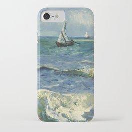 The Sea at Les Saintes-Maries-de-la-Mer by Vincent van Gogh iPhone Case