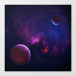 Abstract Fractal Design 11 - Space and Dark Matter Absorption Canvas Print
