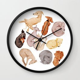 Sleepy dogs Wall Clock