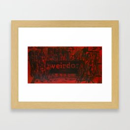 WEIRDOS Framed Art Print