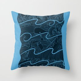 Once Upon the Sea Throw Pillow