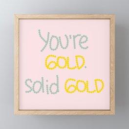 Solid Gold Framed Mini Art Print