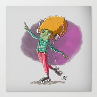 disco Canvas Prints featuring Disco by German