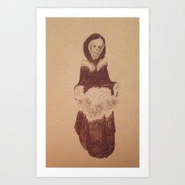 Death's pretty Art Print