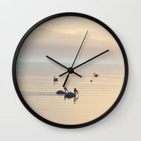 coachella Wall Clocks featuring MYSTERIOUS SALTON SEA by Teresa Chipperfield Studios