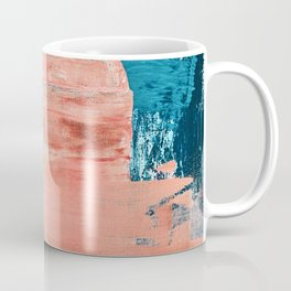 Energy: a vibrant minimal abstract piece in pink and blue by Alyssa Hamilton Art Coffee Mug