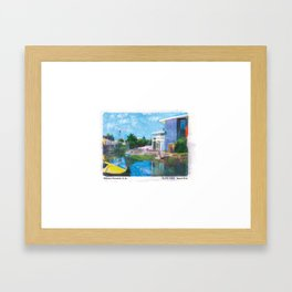 Venice Canals, Los Angeles, Art Print Framed Art Print