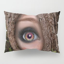 Beautiful Face trapped in a tree trunk Pillow Sham