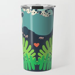 Opossum + Ferns Travel Mug