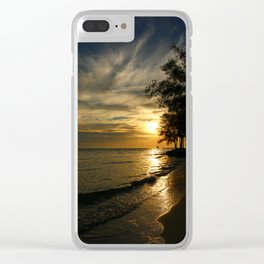 A Perfect Days End Clear iPhone Case