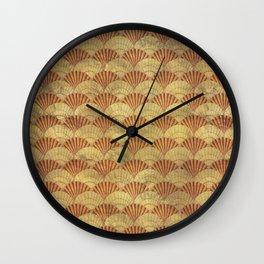 Sea shells pattern 1 Wall Clock