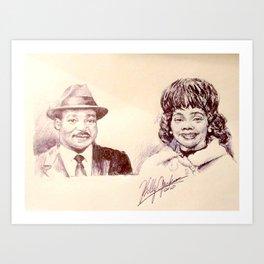 Martin Luther King & Coretta Scott King Art Print