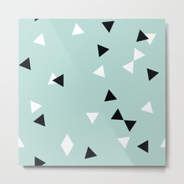 Simple Geometry / Triangles Metal Print