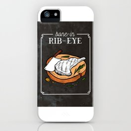 Bome In Rib Eye Steak Grill Instructor Smoker BBQ iPhone Case